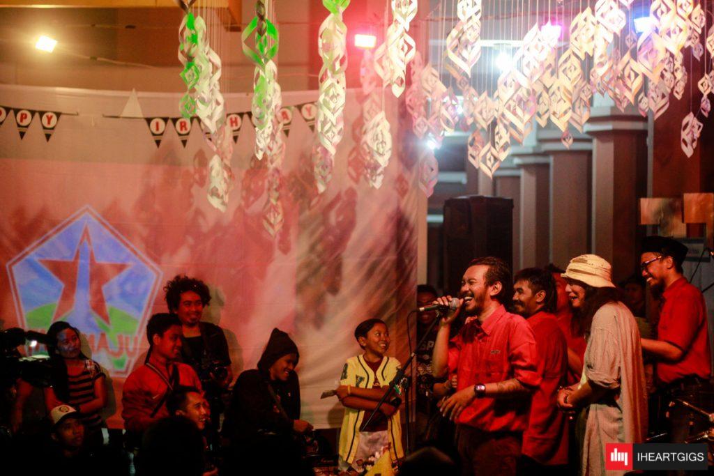 Anto Baret turut memeriahkan pesta ulang tahun Tani Maju ©IHEARTGIGS /Dedi Widianto